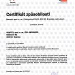 Certifikát způsobilosti